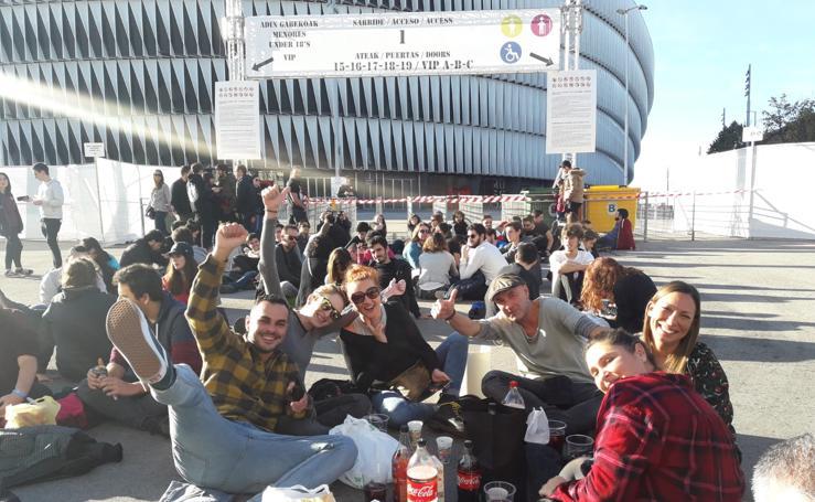 El ambiente en San Mamés para los conciertos de la MTV