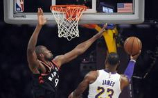 Serge Ibaka vive su gran noche en el Staples Center y se exhibe ante LeBron James