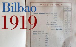 Vinos y licores de hace 100 años