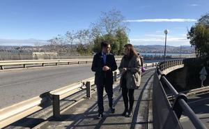 Arrancan las obras para cubrir la pasarela de San Juan