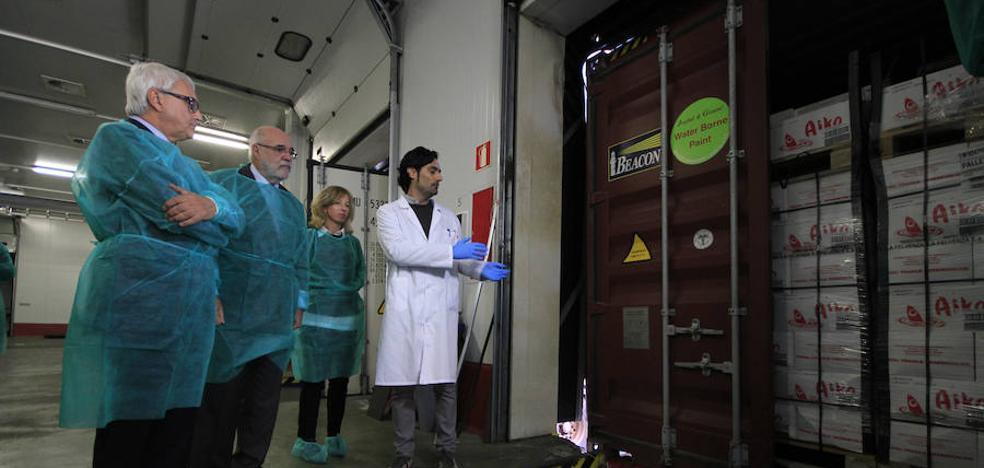 El Puesto de Inspección Fronteriza de Bilbao ha controlado un millón de toneladas de alimentos este año