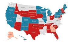 El mapa de los gobernadores de EE UU