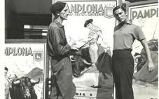 El surrealista navarro que pintó los carteles de 'Fiesta'