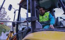 Atacan una excavadora en la zona de las obras del tranvía al campus