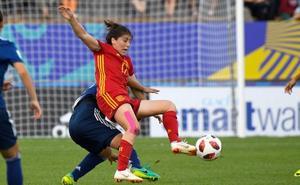 Lucía, sin minutos en el empate entre España y Alemania