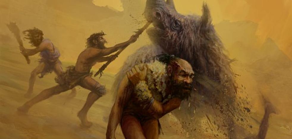 El cráneo herido del neandertal