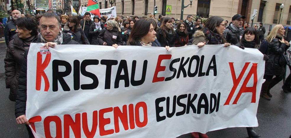 Los sindicatos convocan cuatro días de huelga en colegios concertados la última semana de noviembre