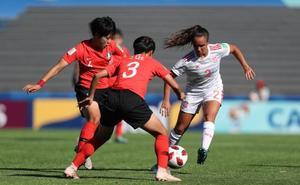 Nerea Nevado debuta y juega todo el partido en la goleada de España a Corea del Sur