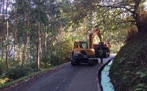 Ibarrangelu amplía varias curvas del vial de Akorda para reducir su peligrosidad