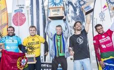 El surfista de Plentzia Natxo González, tercero en la Nazaré Challenge
