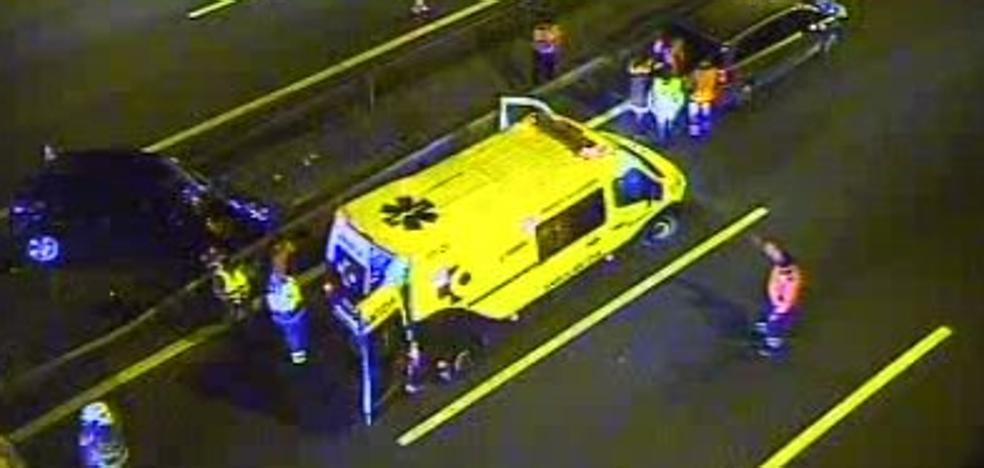 Normalidad en la A-8 tras casi dos horas de retenciones por un accidente en Trapagaran