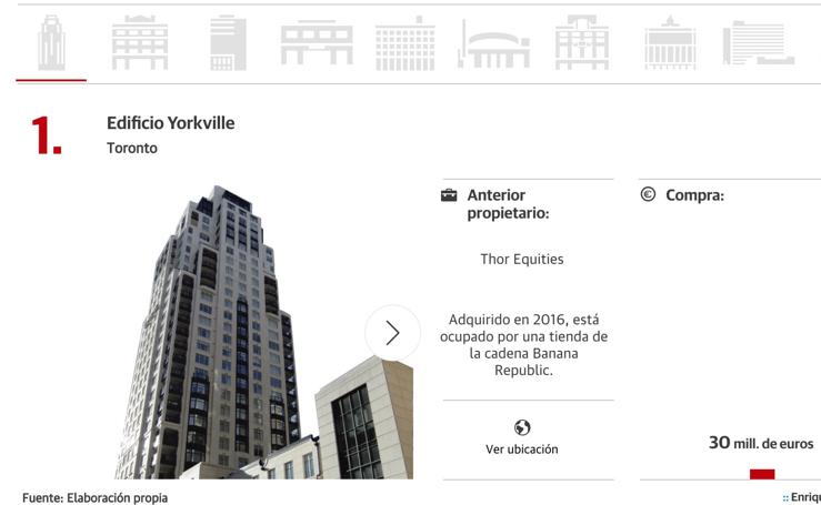 Diez edificios comprados por Amancio Ortega