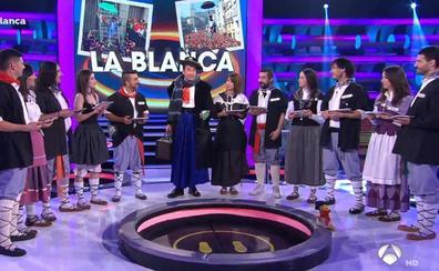Celedón lleva la alegría de las fiestas de Vitoria al plató de Antena 3
