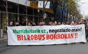 Bilbobus anuncia paros en diciembre que culminarán con una huelga en Santo Tomás