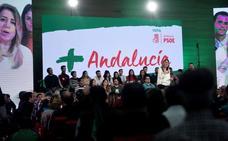 Susana Díaz carga contra un posible bloqueo de PP y Cs pero evita pronunciarse sobre el apoyo de Adelante Andalucía
