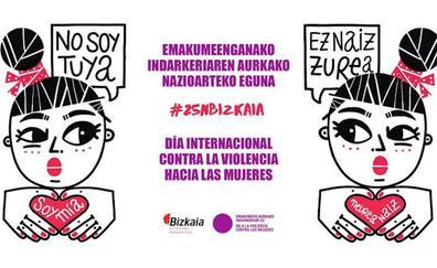 «No soy tuya, soy mía»: el deporte vizcaíno se une para el día contra la violencia machista