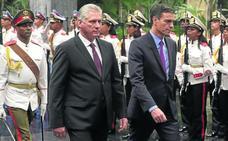 El viaje de Sánchez a Cuba otorga oxígeno diplomático a Díaz-Canel