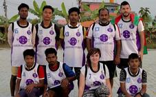 Los colores del Santurtzi Basket llegan a Nepal