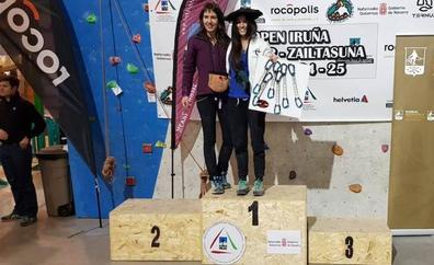 Itziar Zabala vence el tricampeonato de Euskadi de escalada deportiva