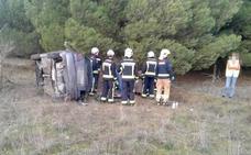 Un herido, evacuado en helicóptero a Vitoria tras sufrir un accidente en Lantarón