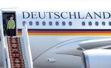 La avería en el avión de Merkel acentúa la imagen de fin de etapa de la canciller
