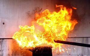Qué hacer si... se declara fuego en la cocina