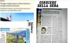 La prensa internacional valida la estrategia de Bizkaia para venderse al mundo