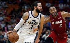 Ricky Rubio, el mejor de los Jazz en la derrota ante los Heat