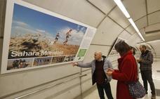 La estación de metro de Basauri se llena de solidaridad
