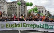 EH Bildu se manifiesta en Bilbao para exigir una «república vasca»