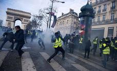 Disturbios en París en las protestas de los 'chalecos amarillos'