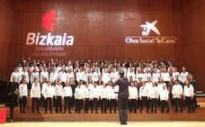 La Coral arropa en el Euskalduna a 44 escolares bilbaínos