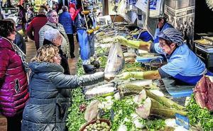 El menú de Navidad se despacha en el mercado