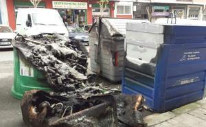 Queman un tercer contenedor en el barrio de Astrabudua
