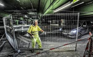 El parking de Santa Bárbara reabrirá el sábado, dos días antes de lo previsto