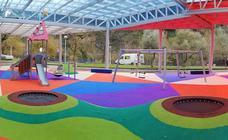 Arrigorriaga estrena el parque infantil de Lehendakari Agirre, tres años después