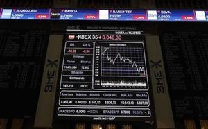 El Ibex-35 cae un 0,45% y pierde los 8.900 puntos por la mínima