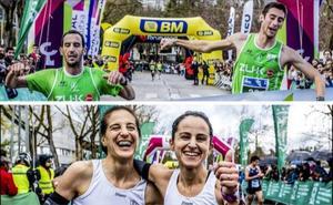 Hichan Oualla y Raquel Gómez reinan en la Media Maratón de Vitoria