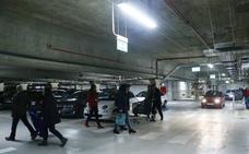 Reabre la primera planta del parking de Santa Bárbara con «normalidad»
