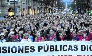 Bilbao se mantiene como líder del movimiento de pensionistas