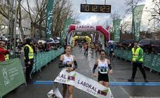 Raquel Gómez continúa con su idilio con la Media maratón vitoriana