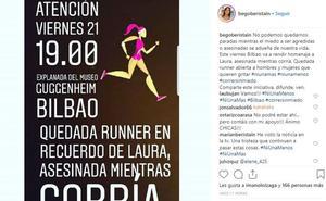 Quedada runner en Bilbao en recuerdo de Laura Luelmo y para reivindicar poder «correr libres y solas»