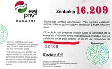 El PNV de Basauri vende lotería «del país vecino»