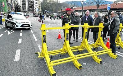 Una valla amarilla contra ataques terroristas
