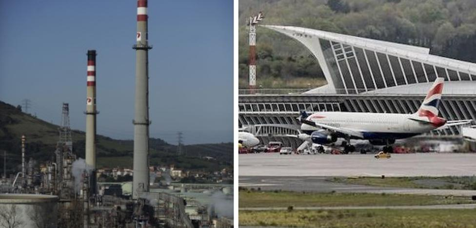 Bizkaia actualiza el valor catastral del puerto, Petronor y 'La Paloma'
