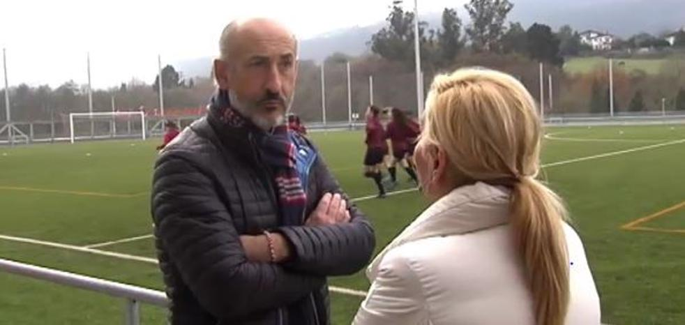 Primera toma de contacto de Elizegi con el equipo femenino
