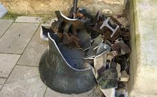 Cae una campana de la iglesia de San Juan en Laguardia