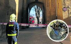 Caída de la campana de la iglesia de San Juan en Laguardia: «Menos mal que no había nadie debajo»