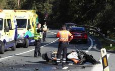 Los muertos en las carreteras vizcaínas se duplican en un año fatal para los motoristas