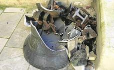La rotura del eje de sujeción hizo caer la campana en Laguardia